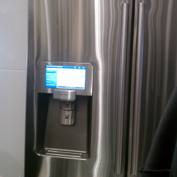Fridge with built-in display